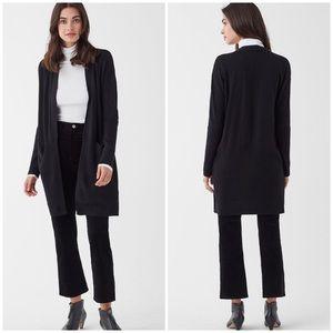 Splendid Black Cashmere Blend Soft Cardigan Black